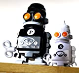 Suck UK Salt & Pepper 'Bots Wind Up Robot Condiment Set By