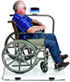 Heavy Duty Wheelchair Scale Platform White 1000 lb capacity by Salter Brecknell