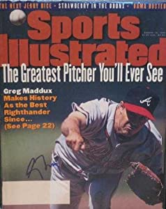 Buy Greg Maddux autographed Sports Illustrated Magazine (Atlanta Braves) by Autograph Warehouse