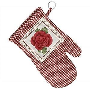 topflappen handschuh romantic rose ofenhandschuh k che haushalt. Black Bedroom Furniture Sets. Home Design Ideas