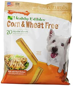 Nylabone Corn Free/Wheat Free Heart with Real Chicken, 20 Count Pouch