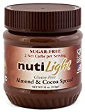 NUTILIGHT - SUGAR FREE, LOW CARB, ALMOND AND COCOA SPREAD 11 oz. Jar. Pack of 4