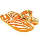 Womens Miss Trish Designer Lion Flat Flip Flops Sandals