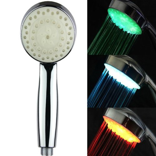 7 Colors Changing Led Shower Head Water Flow Bathroom Faucet Light