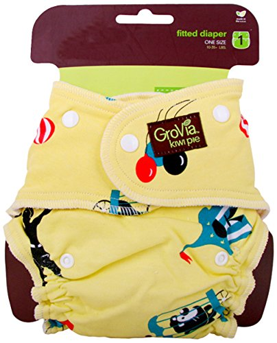Grovia Kiwi Pie Fitted-Diaper - Circus front-145483