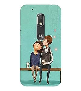 EPICCASE Romantic Couple Mobile Back Case Cover For Moto Play (Designer Case)