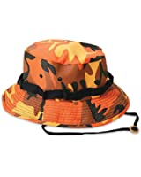 Mens Military Hat - Jungle Hat, Savage Orange Camo by Rothco