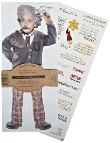 "Unemployed Philosophers Guild Einstein Quotable Notables, 9"" Height"