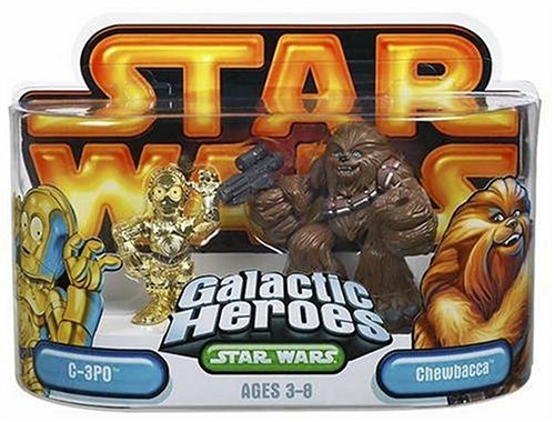 Star Wars Galactic Heroes Episode 2 Junior Figure 2 Pack Chewbacca & C3PO