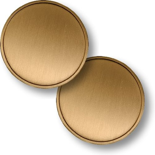 Engravable 50mm Brass Blank Challenge Coin