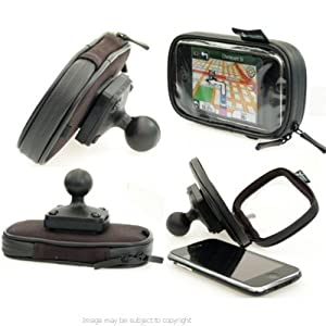 """Waterproof Soft Case for iPhone 4S with 1"""" RAM Ball fits Ram Motorcycle Mounts"""