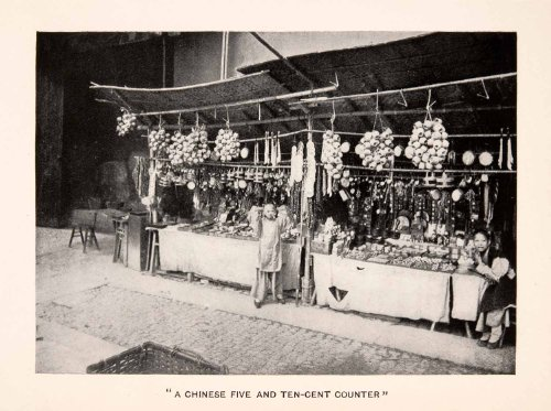 1905-halftone-print-chinese-five-ten-cent-counter-market-shopping-booth-stall-original-halftone-prin