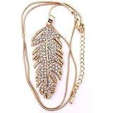 Rolicia or ou argent plaqué autrichien cristaux de zircon collier Pandant Made with Swarovski Elements avec 38 + 5 cm de chaîne pour les dames comme cadeau spécial
