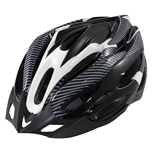 Ezyoutdoor® armet headpiece Helmet Super Lightweight Integrally Road Bicycle Cycling Helmet Bike Motorcycle Adult Holt Snow Sports Helmet (black and white) (Cycling Jersey Black Venom compare prices)