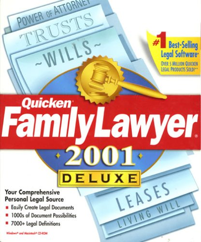 Quicken Family Lawyer 2001 Deluxe