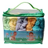 Tots Bots Nappy Day Pack (Stage 1, Aplix Fastening, Bamboo Material, Rainbow Colours)