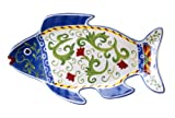 Certified International Amalfi 3D Fish Platter, 14-Inch by 7.5-Inch