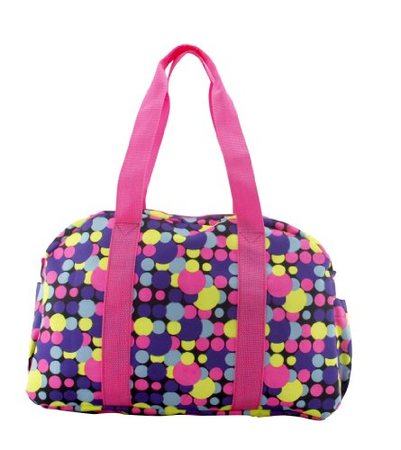 Heine Fashion Mother Tote Diaper Bag with Insulated Bottle- Eco Friendly (Pink-Yellow)