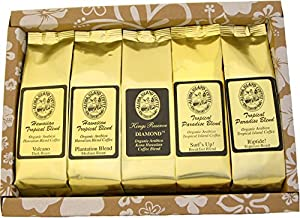 Voted our Best Coffee Gifts for Christmas 2014, Pure Kona and Kona Hawaiian Coffee Sampler Gifts, Ground Coffee and K-cup Coffee Gifts