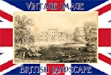 3 inch x 2 inch (7.5cm x 5cm) Acrylic Keyring British Landscape Hampden House From The North east