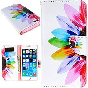 Iphone 6s Case,iphone 6s Leather Case,iphone 6s Colorful Flower Print Stand Pu Leather Case for Iphone 6s 4.7 Inch -Panycase #1