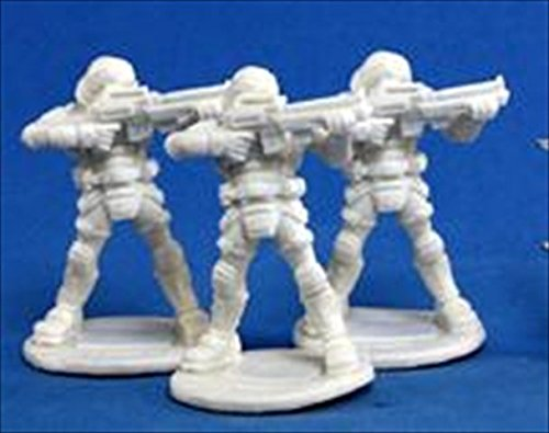 Reaper Miniatures 80011 Bones - Chrono Nova Corp Guard 3 Miniature
