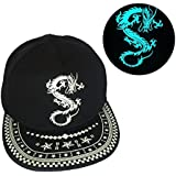 GLOW IN DARK Anime Dragon Ball Z Beyblade Game Of Thrones Dragon Baseball Sport Gorras Snapback Cap Hats - ADULT...