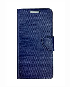 Alba Case Flip Cover For Reliance Jio LYF Water 6 Flip Cover Case - Blue