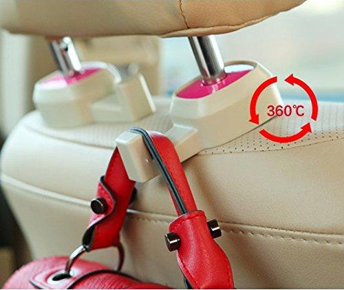 2 x lilware universal car headrest mini hanger pack of 2 backseat hooks for bag luggage. Black Bedroom Furniture Sets. Home Design Ideas