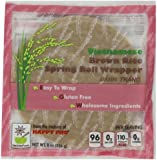 Vietnamese Brown Rice Spring Roll Wrapper -8 oz, Pack of 6