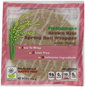 Vietnamese Brown Rice Spring Roll Wrapper - Pack of 6