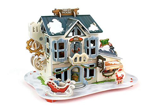 Daron Christmas Candy Gift Shop 3D Puzzle with Lights (56-Piece)