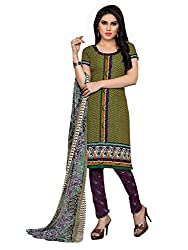 Jinal Fashion women's Cotton Unsitched dress material (Green_color)