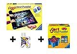 Pack Puzzle Roll + Pegamento + Bandejas portapiezas. Tapete universal para transportar/guardar puzzles + pegamento/conserver + bandejas portapiezas