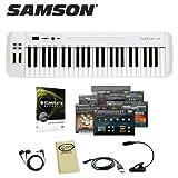 Samson Carbon 49 USB MIDI Controller Keyboard (SAKC49) Includes: USB Cord Headphones Mighty Bright Music Light GoDpsMusic Cloth & Native Instruments Komplete Elements 8 Software