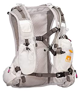 Nathan VaporShape - Women's Race Vest Hydration Pack with 2.0L bladder - Orange/White - S/M