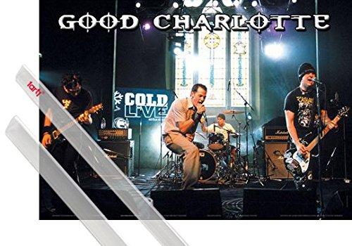 Poster + Sospensione : Good Charlotte Poster Stampa (89x59 cm) Cold Live e Coppia di barre porta poster trasparente 1art1®
