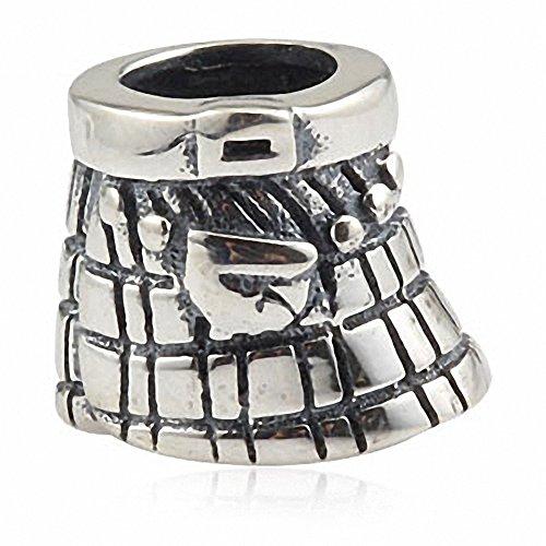 Scozia gonna in argento Sterling 925massiccio per storia europea Charm Bracelets