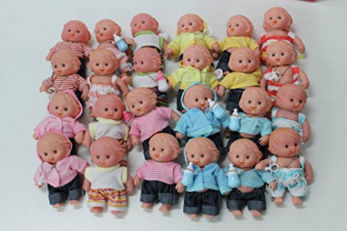 Set Of 4 Assorted Baby Dolls 5'' Tall front-235425