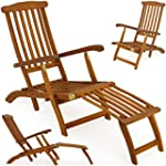Garden lounger wooden lounger folding...