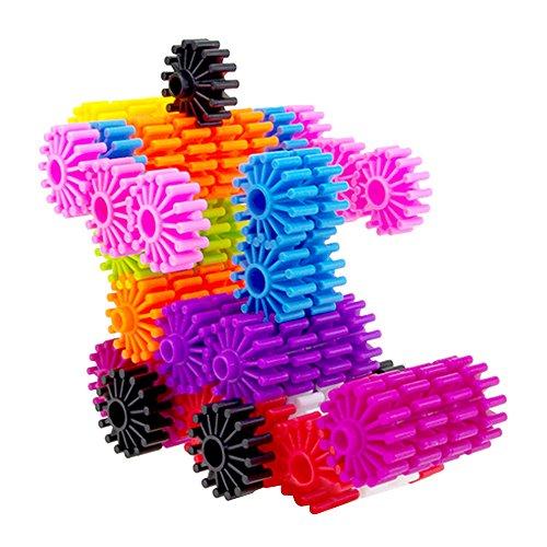 Eizur 80 Pezzi Bambini Ingranaggio Interlocking Set Rullo Assemblaggio Costruzione Blocchi Giocattoli Educativi Diametro 3.3CM