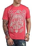 Hottribes Men's Cotton T-Shirt (FC5_Coral_XX-Large)
