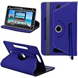 TABLET FLIP Case / Cover For BSNL Penta WS-704Q Ultra ., SMM 360 Rotate Flip Cover With Stand - ( Blue )