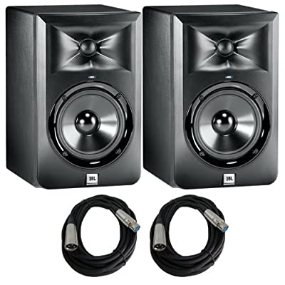 JBL LSR305 5 in. Studio Monitors with cables Bundle from JBL
