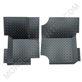 Warrior Products 904BRDPC Powder Coated Finish Floor Boards for Jeep CJ7 76-86