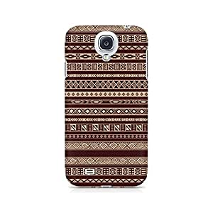 Motivatebox- Brown Ribbon Premium Printed Case For Samsung S4 -Matte Polycarbonate 3D Hard case Mobile Cell Phone Protective BACK CASE COVER. Hard Shockproof Scratch-