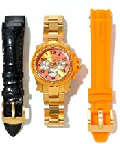 Invicta Angel Lady Chronograph Gold-tone Dial Gold-tone PVD Ladies Watch 11733