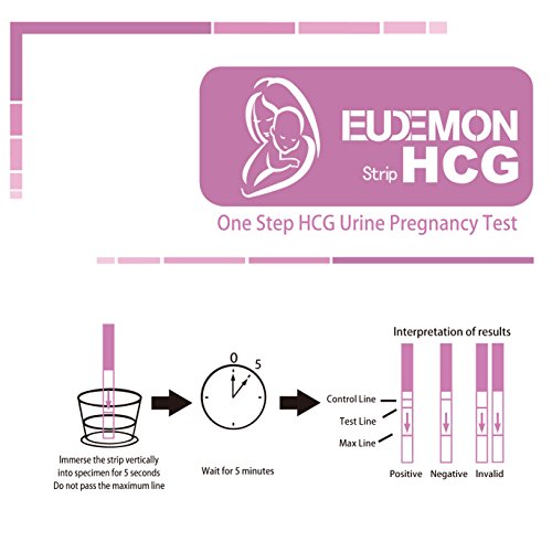EUDEMON Pregnancy (HCG) Test Strips - (Pack of 30)