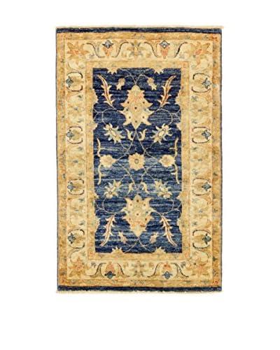 Eden Carpets Alfombra Agra Oro/Azul 124 x 76 cm