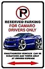 2010-15 Chevy Camaro No Parking Sign
